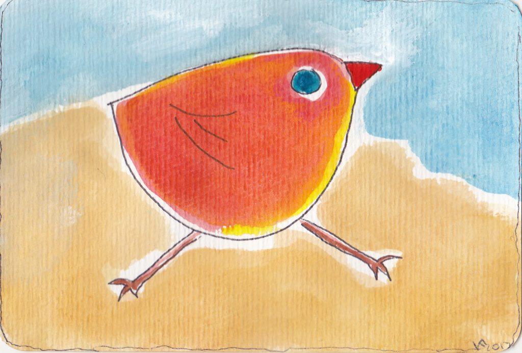 Rennender Vogel, ein Bild von Kathrin Franckenberg